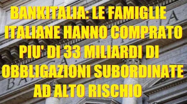 obbligazioni subordinate un pericolo per tutta Italia