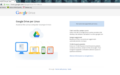 google drive per linux