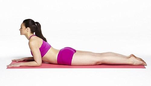 Woman Yoga Sphinx Pose