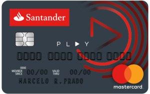 cartão Santander play