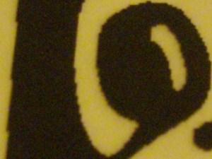 A close-up on the Tux printout