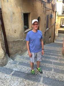 Nick Taylor on the steps in Agrigento