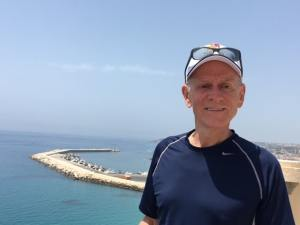 Nick Taylor overlooking Sciacca, Sicily
