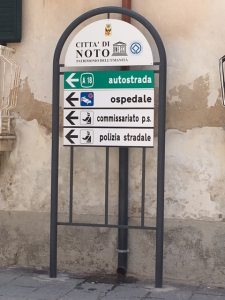 Noto, Sicily Sign