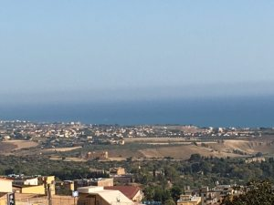 View from Agrigento, Sicily to the Mediterranean