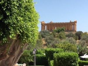Villa Athena and Templeo of Concordia, Agrigento, Sicily