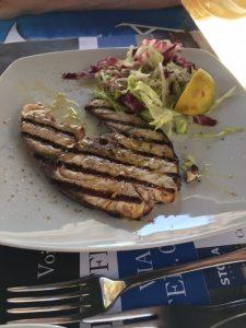 Grilled swordfish, La Pesceria, Palermo, Italy