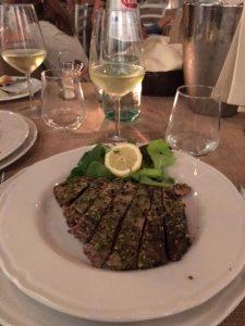 Tuna with Pistacchio Crust Ballaro Restaurant Palermo Italy