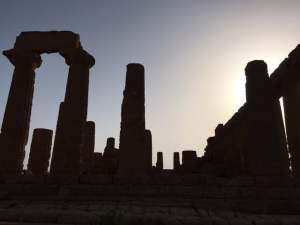 Valley of the Temples in Silhouette, Agrigento, Sicily