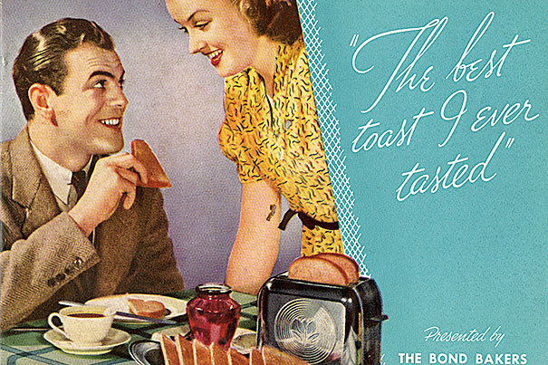 "Cover of culinary pamphlet for Bond Bakers, ""The Best Toast I Ever Tasted,"" 1937."