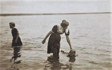 Margaret Wessell Piersol learning to swim, 1896, Courtesy Radcliffe College Archives, Schlesinger Library