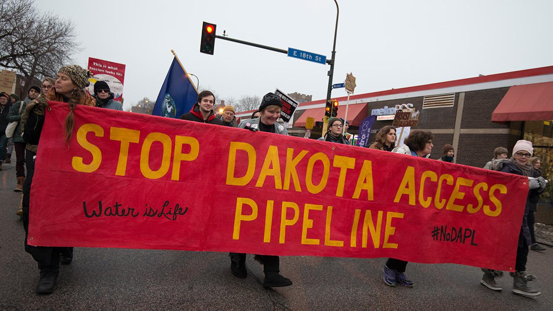 Protesta contra el oleoducto Dakota Access Pipeline