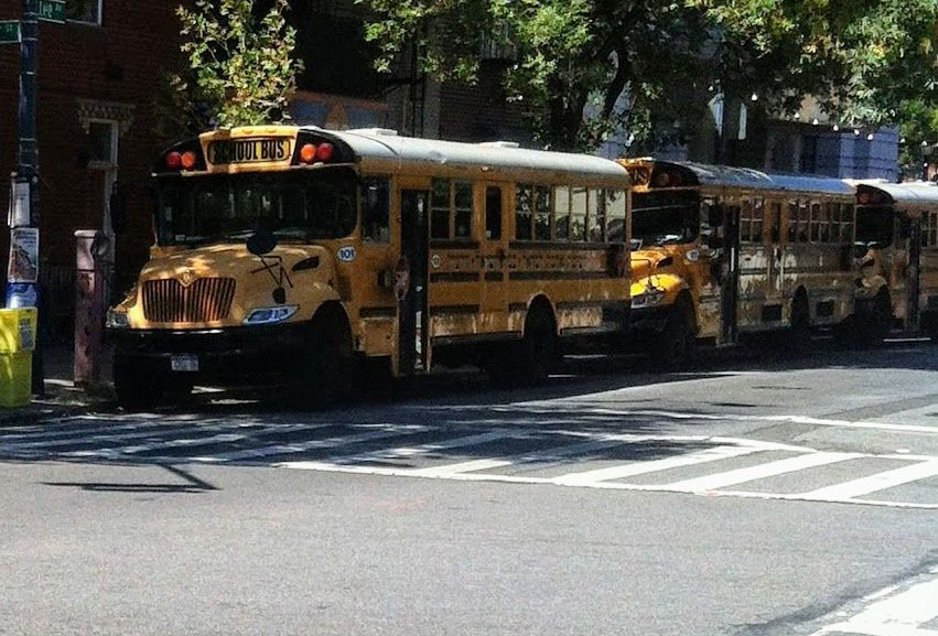 Buses escolares en Williamsburg