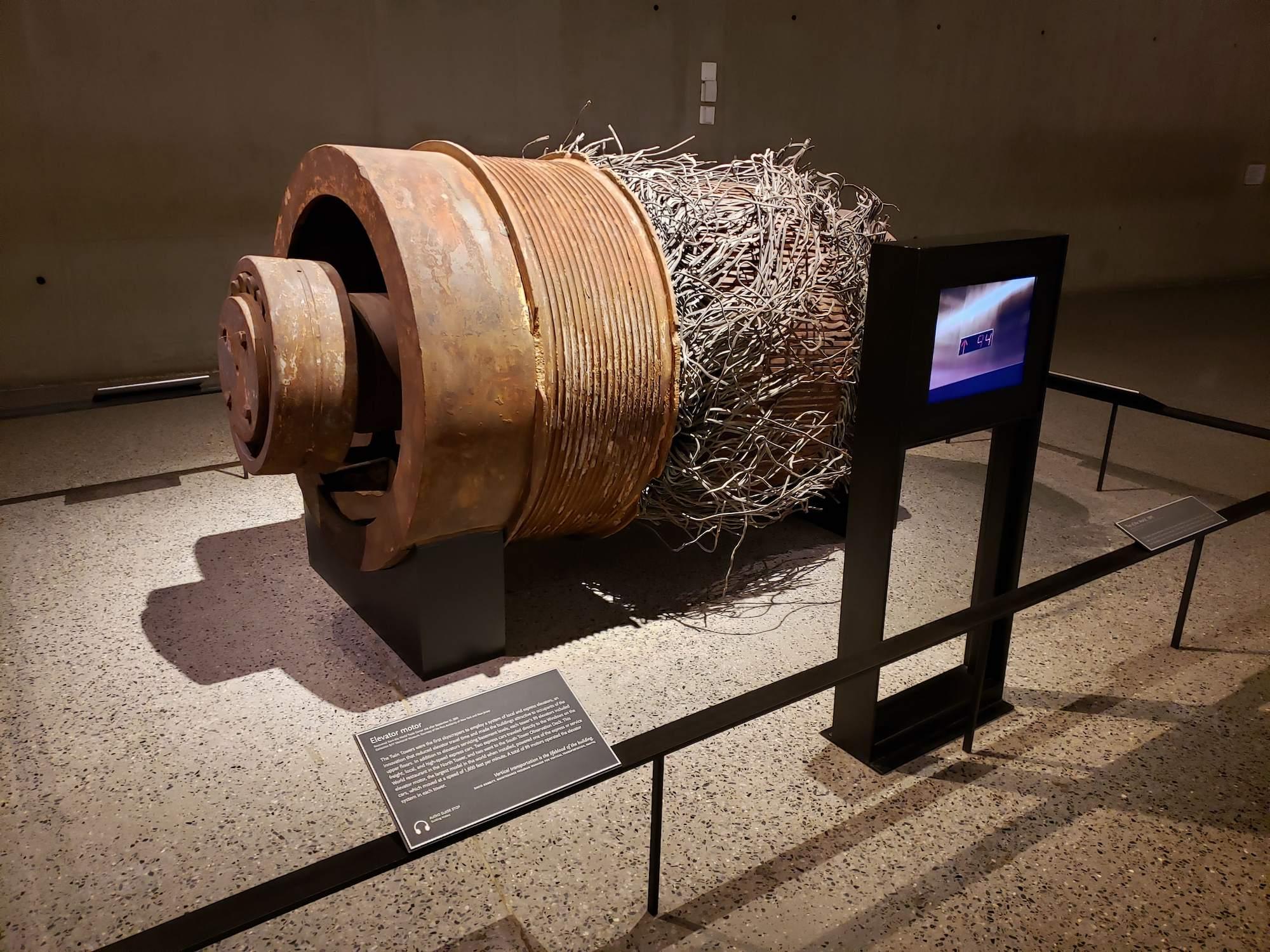 Motor de ascensor Museo del 11-S