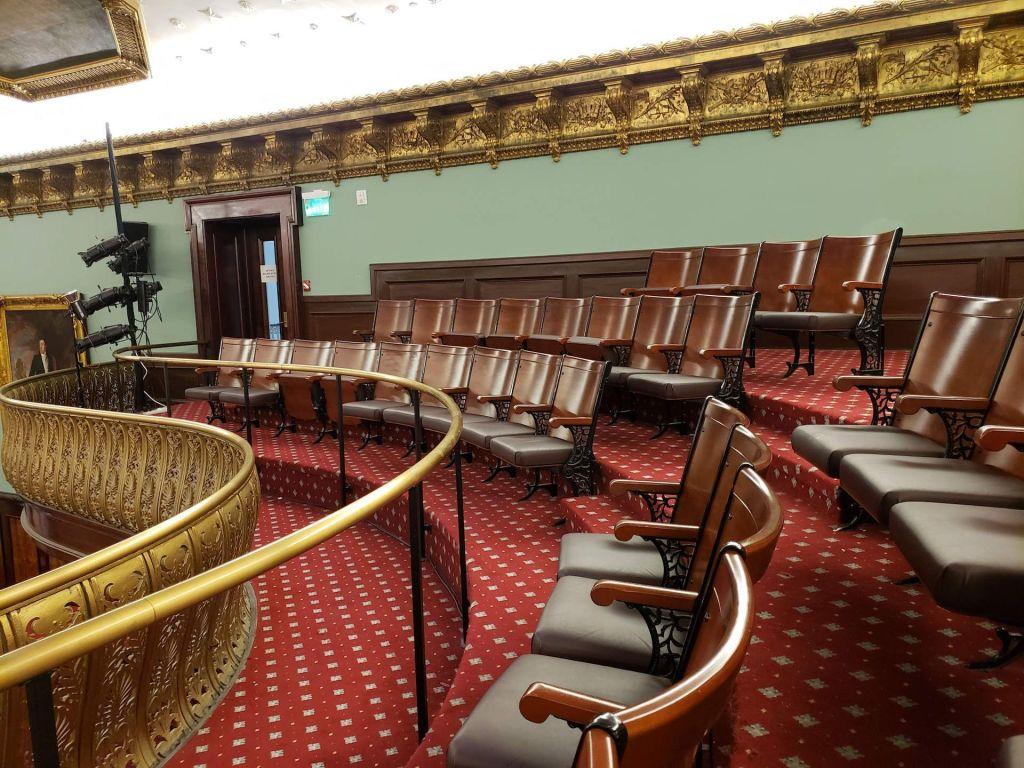 sector para el publico de la camara del ayuntamiento de Nueva York