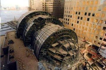 Winter Garden destruido luego del 9/11 Foto de archivo