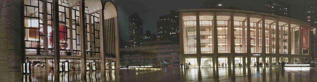 Panoramica nocturna del Lincoln Center