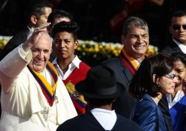 Mensajes de Papa Francisco en Ecuador tienen alto contenido político