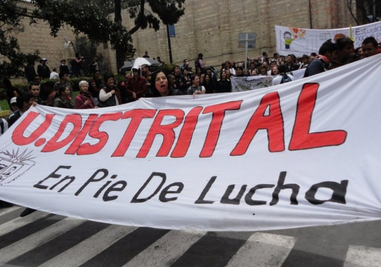 Universidad Distrital se moviliza para exigir mayor financiación