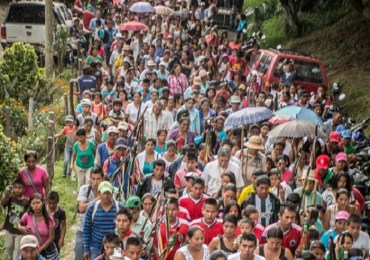 18 mil comuneros indígenas de la ACIN se mantienen en minga en el Cauca