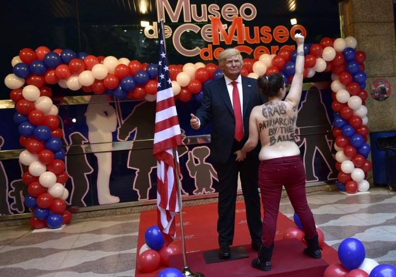La protesta de FEMEN contra Donald Trump