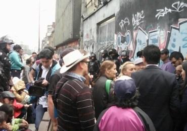 Familias se toman edificio en el centro de Bogotá
