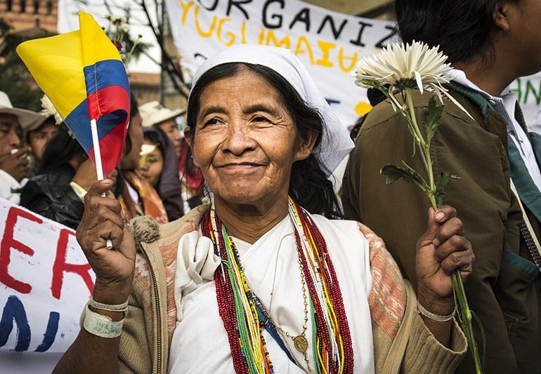 Mujeres víctimas del conflicto armado le apuestan a la paz en Colombia