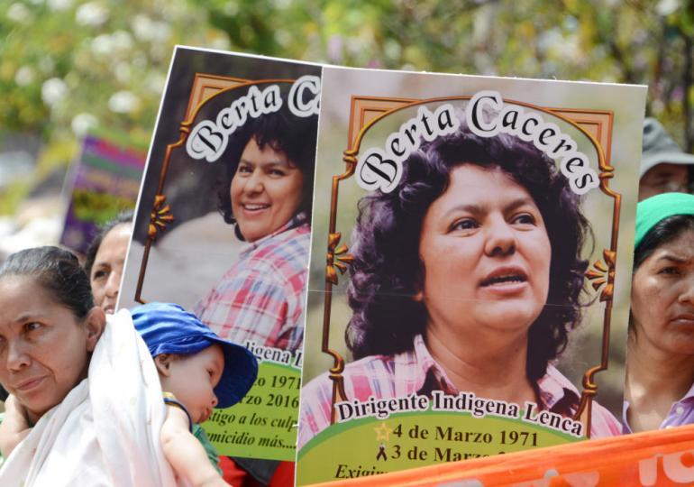 """""""Berta Cáceres sigue siendo nuestra coordinadora, la coordinadora del COPINH"""""""