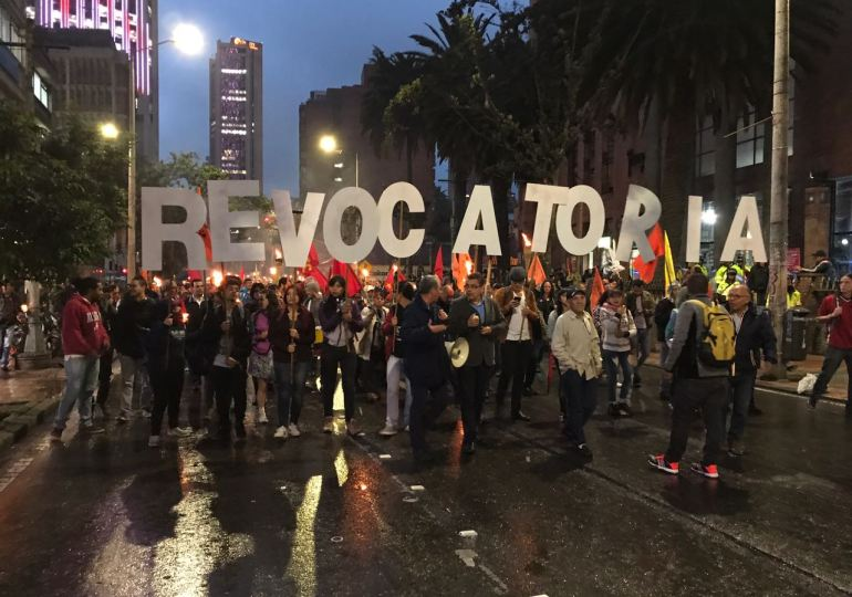 CNE debe respetar Constitución: Comité de revocatoria a Peñalosa