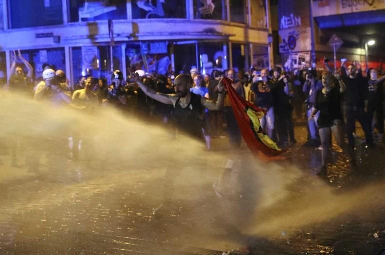 Fuerte represión a protestas contra cumbre del G20 en Hamburgo