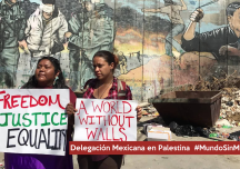 Mexico y Palestina dijeron No a los muros «World without Walls»