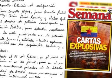 """Exigen a la Revista Semana rectificar artículo """"cartas explosivas"""" por falso y tendencioso"""