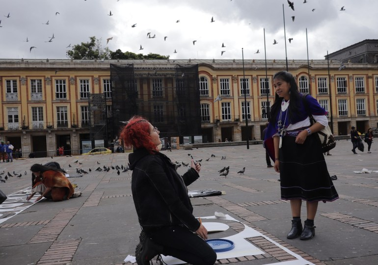 Art installation in Bogotá commemorates lives of murdered social leaders