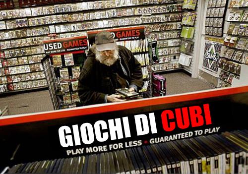 Il tipico utente medio Gamestop, confuso dalla troppa offerta di giochi di cubi