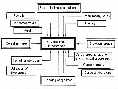 Factors influencing container cryptoclimate