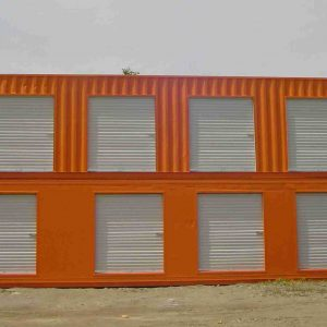 Converted Shipping Container Home Storage Units