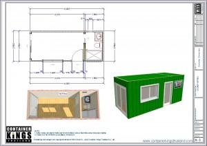 Container Kings Thailand - 20ft Accommodation / Office Unit 003