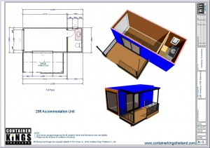 Container Kings Thailand - 20ft Accommodation / Office Unit 004