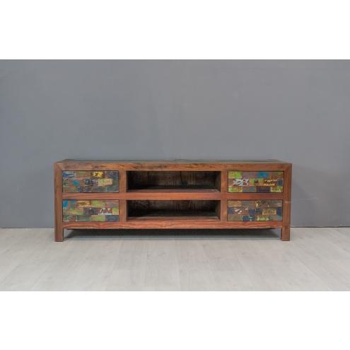 meuble tv 150 en teck finition couleur