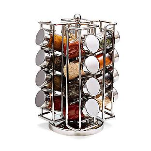 chrome spinning spice rack the