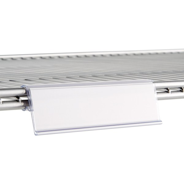 Elfa Ventilated Wire Shelf Label Holders   The Container Store elfa Ventilated Shelf Label Holders
