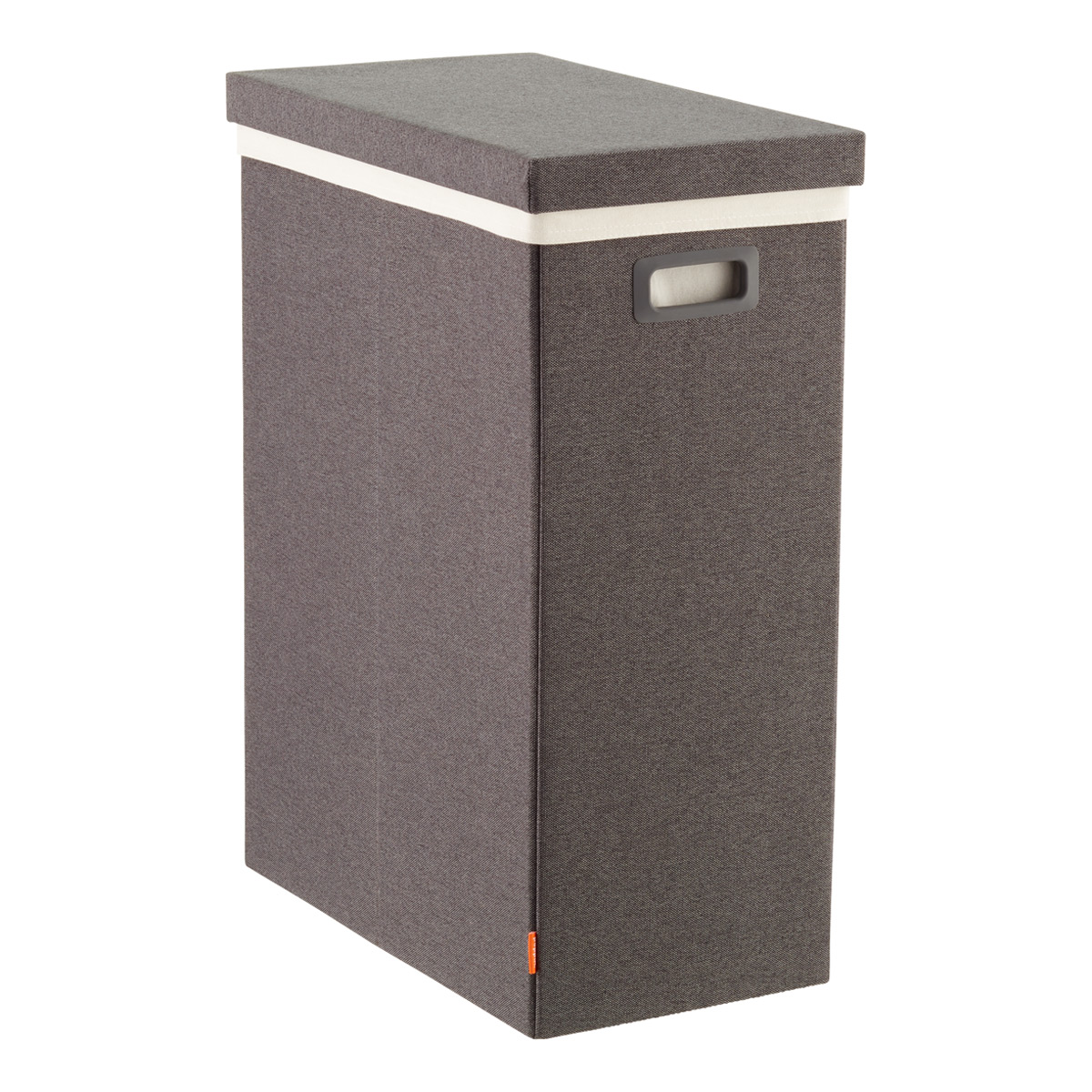 Dark Grey Poppin Laundry Hamper With Lid The Container Store