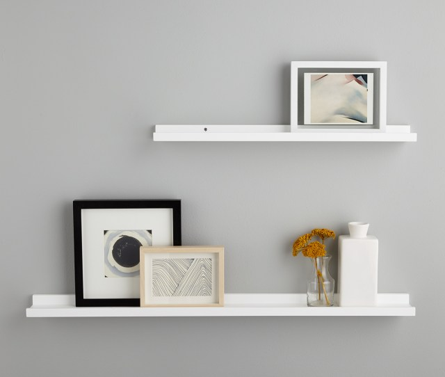 White Ledge Wall Shelves The Container Store