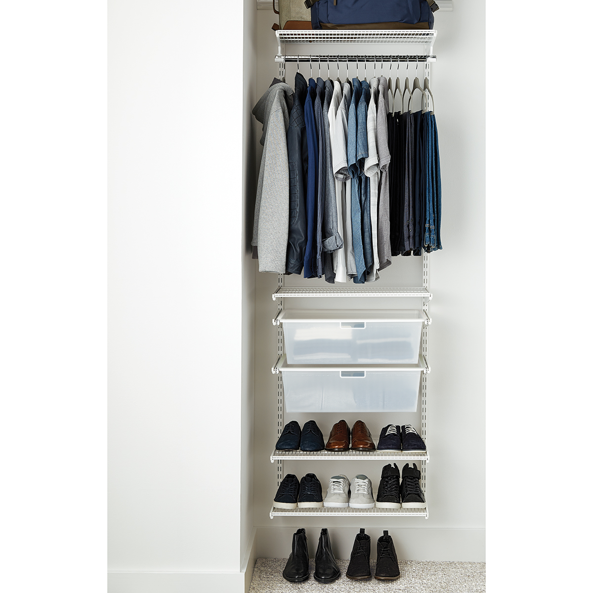 Elfa Classic 2 White Small Reach In Closet