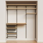 Elfa Decor 6 Graphite Birch Reach In Closet The Container Store
