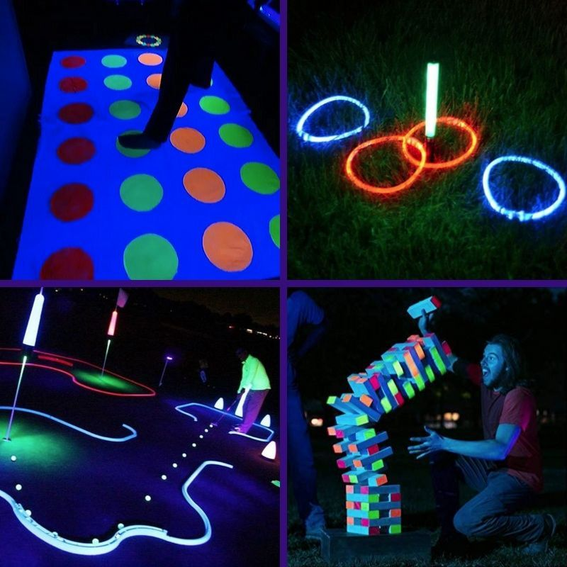 9 Blacklight And Glow In The Dark Game Night Ideas Container Water Gardens