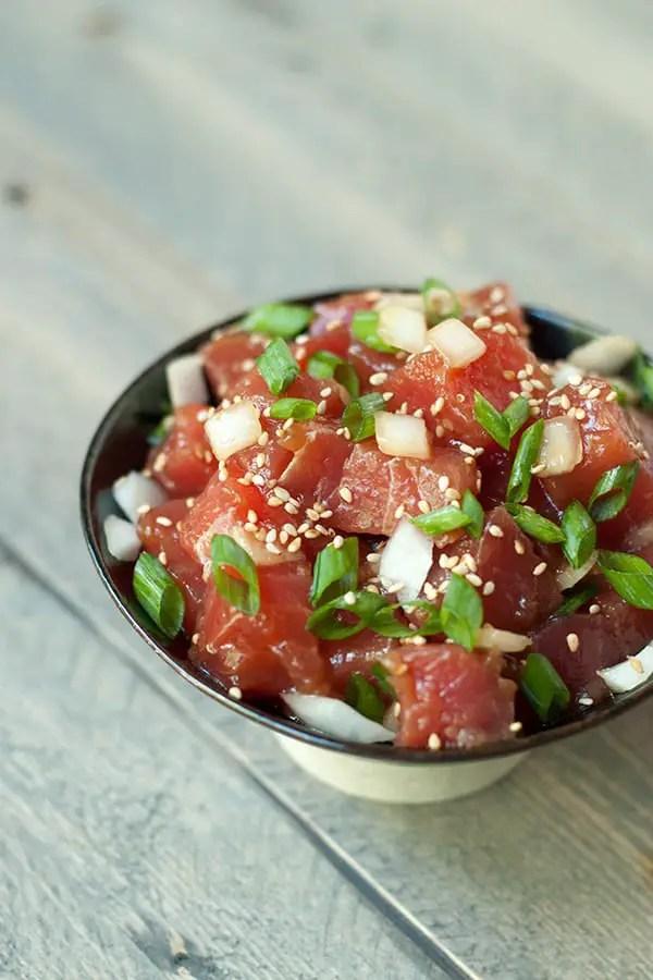 Ahi Tuna Poke- A Hawaiian classic