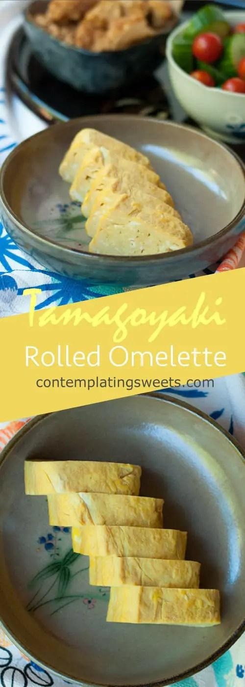 Japanese Egg Roll Tamagoyaki Contemplating Sweets