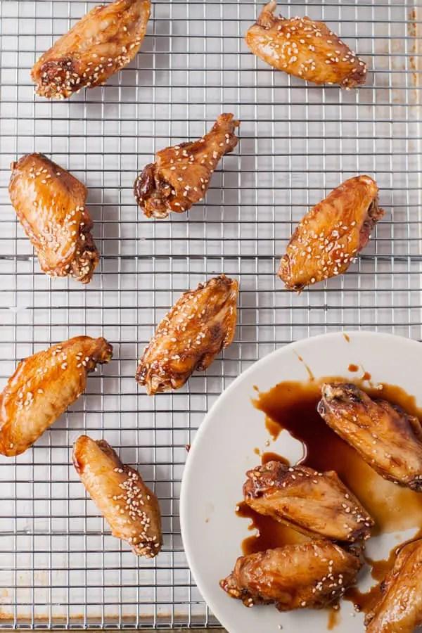 Baked soy sauce sticky wings