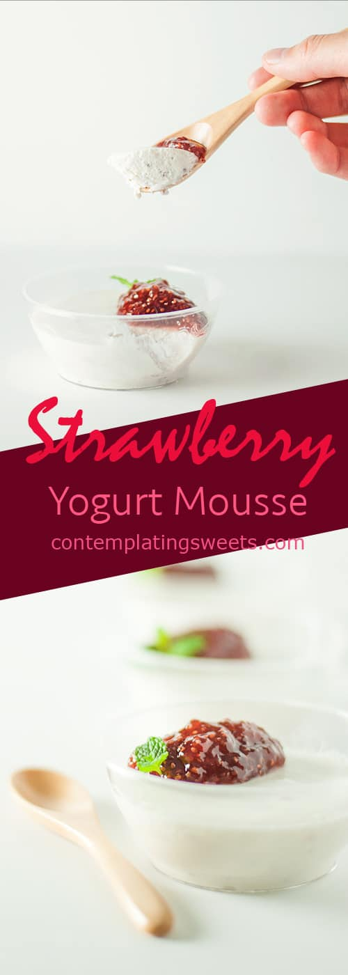 Strawberry Yogurt Mousse, sweetened with Welch's strawberry chia fruit spread